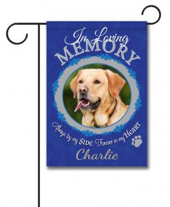 In Loving Memory Pet Memorial Photo Garden Flag