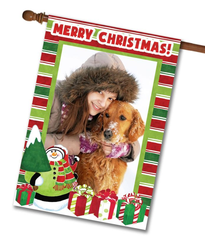 merry christmas  - photo house flag - 28 u0026quot  x 40 u0026quot