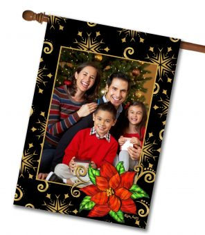 Poinsettia  Photo House Flag