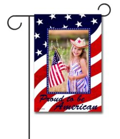 Proud to be American photo garden flag