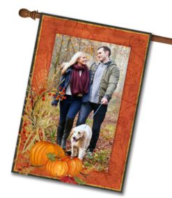Pumpkin Fall Photo House Flag
