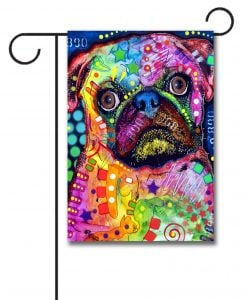 Abstract Pug - Garden Flag - 12.5'' x 18''