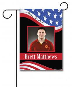 Always Our Hero - Firefighter - Photo Garden Flag - 12.5'' x 18''