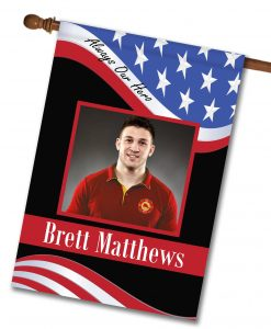 Always Our Hero - Firefighter - Photo House Flag - 28'' x 40''
