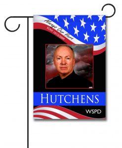 Always Our Hero - Police  - Photo Garden Flag - 12.5'' x 18''