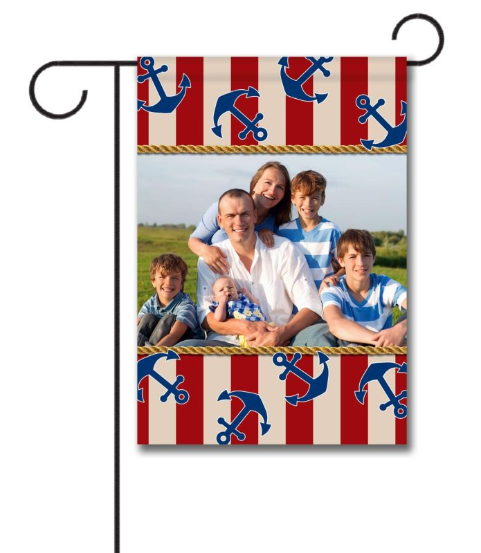 Anchors Aweigh!  - Photo Garden Flag - 12.5'' x 18''