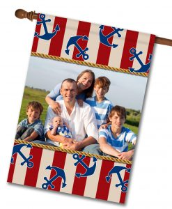 Anchors Aweigh!  - Photo House Flag - 28'' x 40''