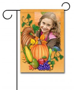 Autumn Blessings- Photo Garden Flag - 12.5'' x 18''