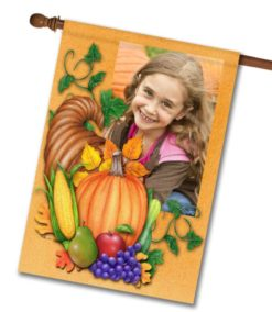 "Autumn Blessings - Photo House Flag 28""x40"""