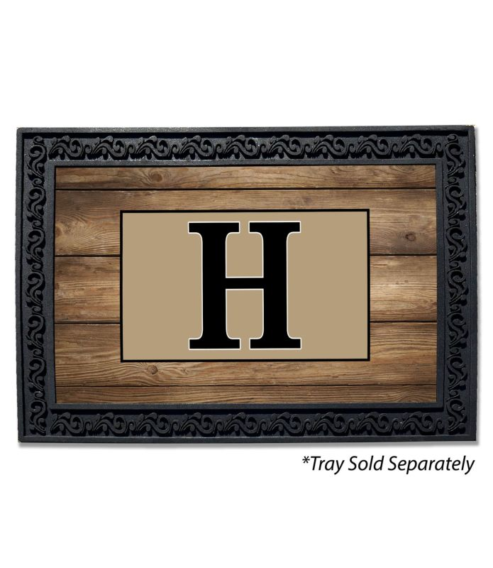 Barn Wood Monogram Doormat