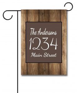 Barnwood  - Address Garden Flag - 12.5'' x 18''