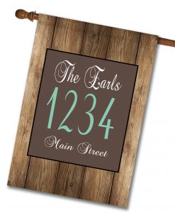 "Barnwood  - Address House Flag 28""x40"""