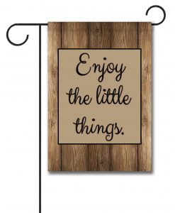 Barnwood  - Quote Garden Flag - 12.5'' x 18''