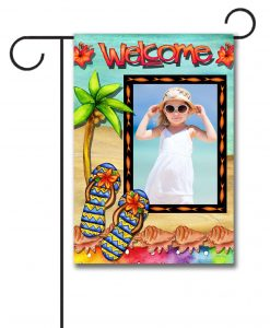 Flip Flop Welcome  - Photo Garden Flag - 12.5'' x 18''