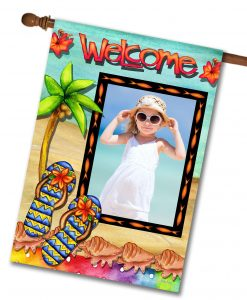 Flip Flop Welcome  - Photo House Flag - 28'' x 40''