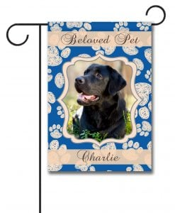 Beloved Pet - Photo Garden Flag - 12.5'' x 18''