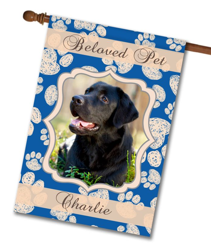 Beloved Pet Photo House Flag 28 Quot X 40 Quot Custom