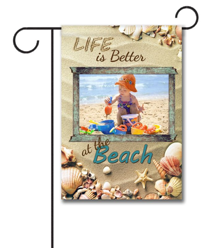 Better at the Beach - Photo Garden Flag - 12.5'' x 18''