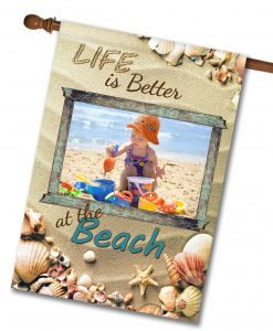 Better at the Beach - Photo House Flag - 28'' x 40''