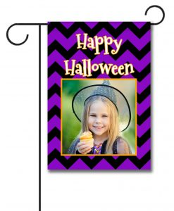 Happy Halloween Chevron- Photo Garden Flag - 12.5'' x 18''