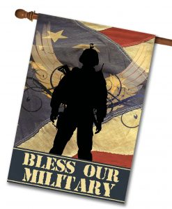 Bless Our Military- House Flag - 28'' x 40''