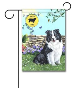 Border Collie Xing - Garden Flag - 12.5'' x 18''