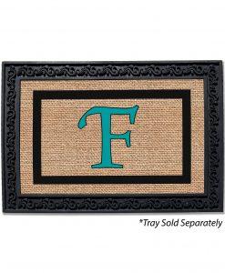 Burlap Frame Monogram Doormat