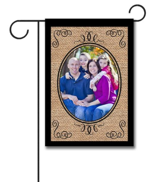 Elegant Burlap - Photo Garden Flag - 12.5'' x 18''