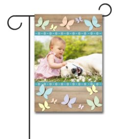 Butterflies - Photo Garden Flag - 12.5'' x 18''
