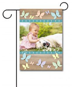 Butterflies - Photo Garden Flag - 12.5'' x 18''
