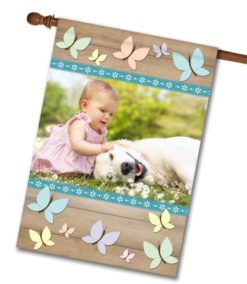 Butterflies - Photo House Flag - 28'' x 40''