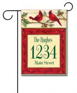Cardinals  - Address Garden Flag - 12.5'' x 18''