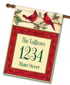 """Cardinals- Address House Flag 28""""x40"""""""