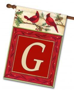 """Cardinals- Monogram House Flag 28""""x40"""""""