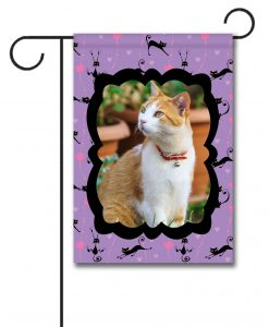 Cats and Hearts- Photo Garden Flag - 12.5'' x 18''