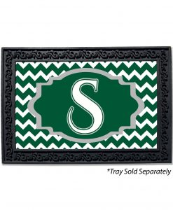 Chevron Monogram Doormat