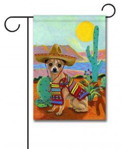 Chihuahua Sombrero - Garden Flag - 12.5'' x 18''