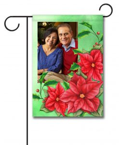 Christmas Flower - Photo Garden Flag - 12.5'' x 18''
