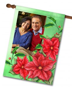 "Christmas Flower - Photo House Flag 28""x40"""