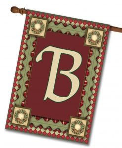 "Christmas Magic- Monogram House Flag 28""x40"""