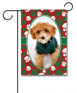 Christmas Paws- Photo Garden Flag - 12.5'' x 18''