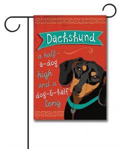 Dachshund- Garden Flag - 12.5'' x 18''