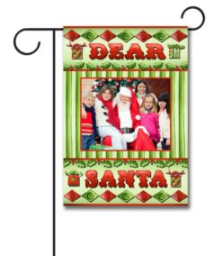 Dear Santa - Photo Garden Flag - 12.5'' x 18''