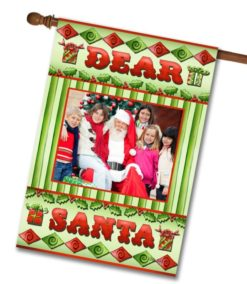 "Dear Santa - Photo House Flag 28""x40"""