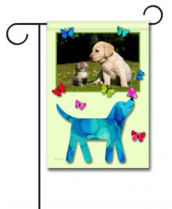 Dog Flutter- Photo Garden Flag - 12.5'' x 18''