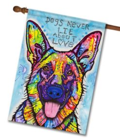 Dogs Never Lie - House Flag - 28'' x 40''