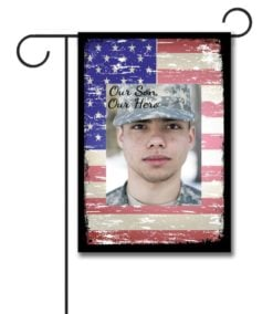 Our Hero Faded Flag - Photo Garden Flag - 12.5'' x 18''