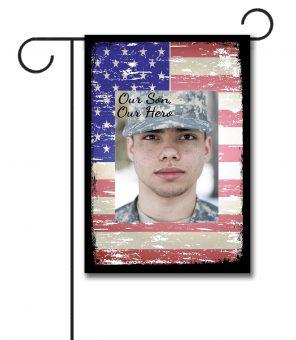 Our Hero Faded Flag - Photo Garden Flag - 12.5'' x 18''