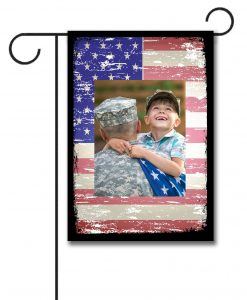 Faded USA Flag- Photo Garden Flag - 12.5'' x 18''