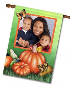 Fall Butterflies - Photo House Flag - 28'' x 40''